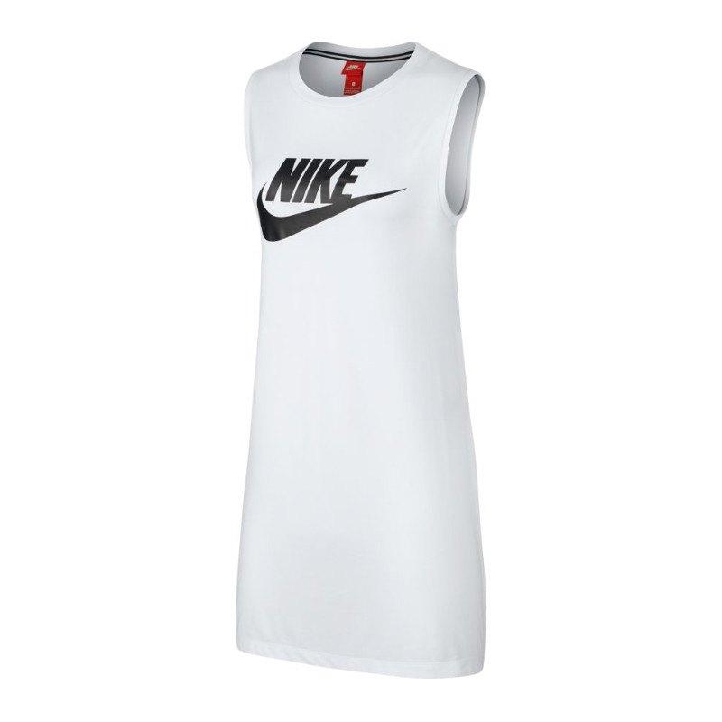 Nike Tank Dress Tanktop Damen Weiss Schwarz F100 - weiss
