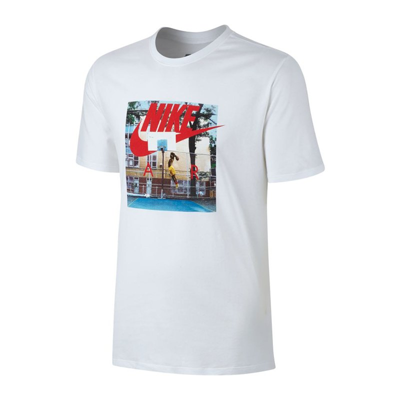 nike hybrid tee air photo t shirt weiss f100 shirt. Black Bedroom Furniture Sets. Home Design Ideas