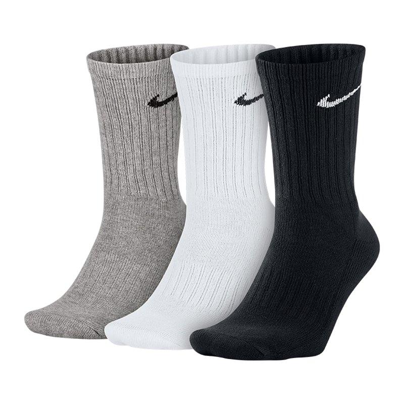 Nike Value Cotton Crew 3er Pack Socken F965 - weiss