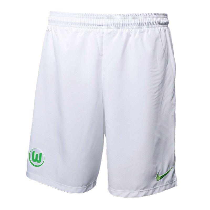 Nike VfL Wolfsburg Short Home 2016/2017 Weiss F102 - Weiss