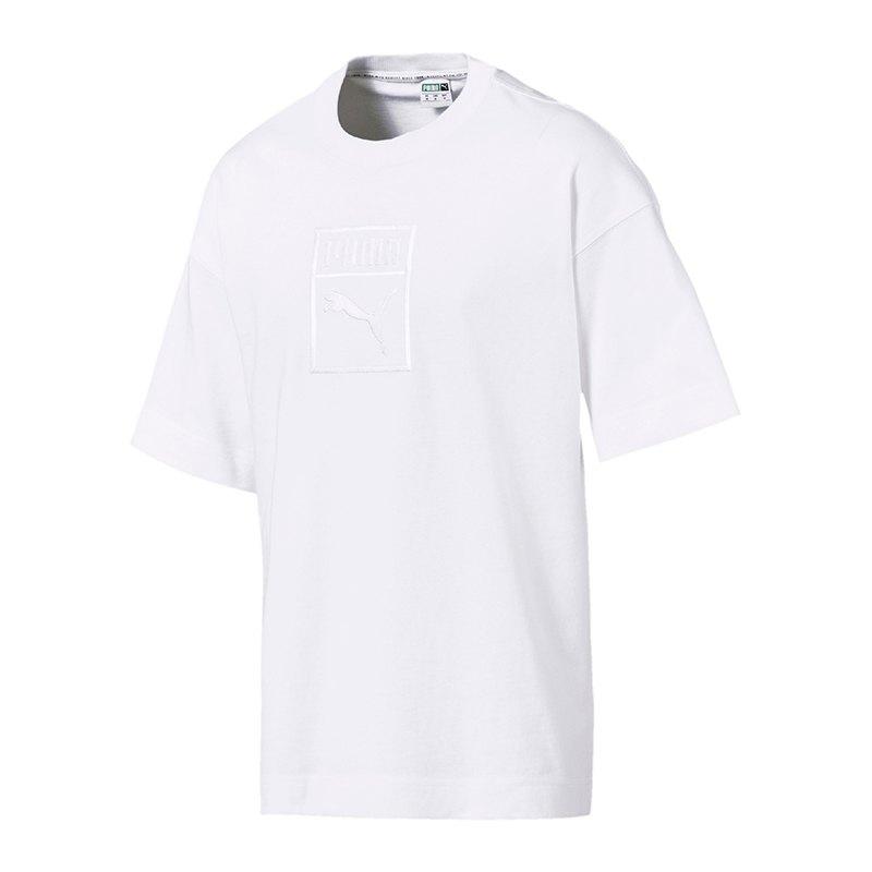 PUMA Downtown Tee T-Shirt Weiss F02 - weiss