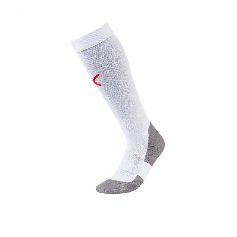 PUMA LIGA Socks Core Stutzenstrumpf Weiss Rot F11 - weiss