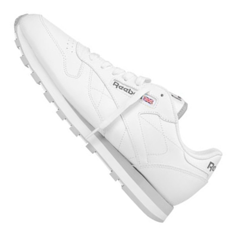 reebok classic leather sneaker weiss grau weiss. Black Bedroom Furniture Sets. Home Design Ideas