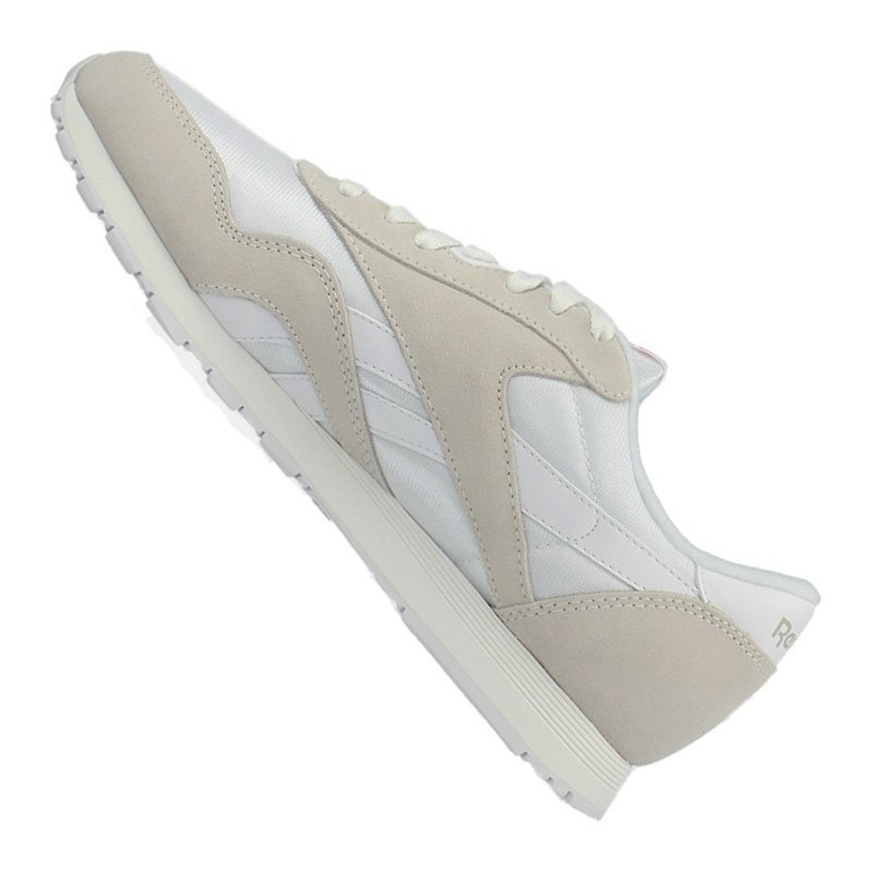 reebok classic nylon sneaker damen weiss grau weiss. Black Bedroom Furniture Sets. Home Design Ideas