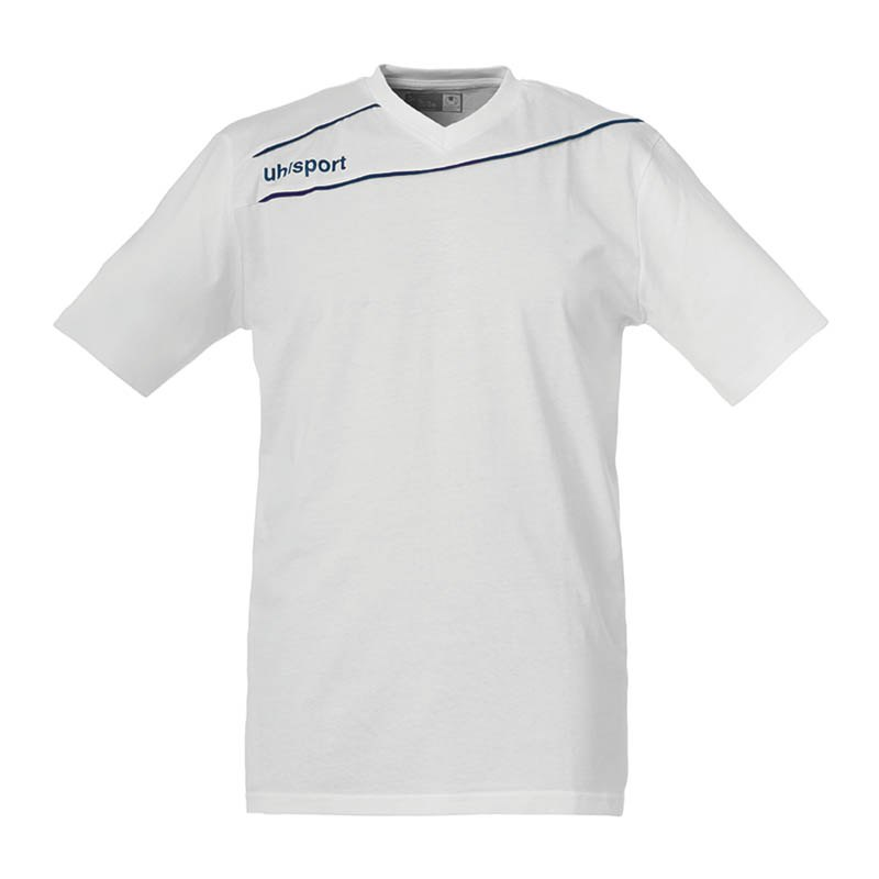 Uhlsport Stream 3.0 Baumwoll T-Shirt Kids F10 - weiss