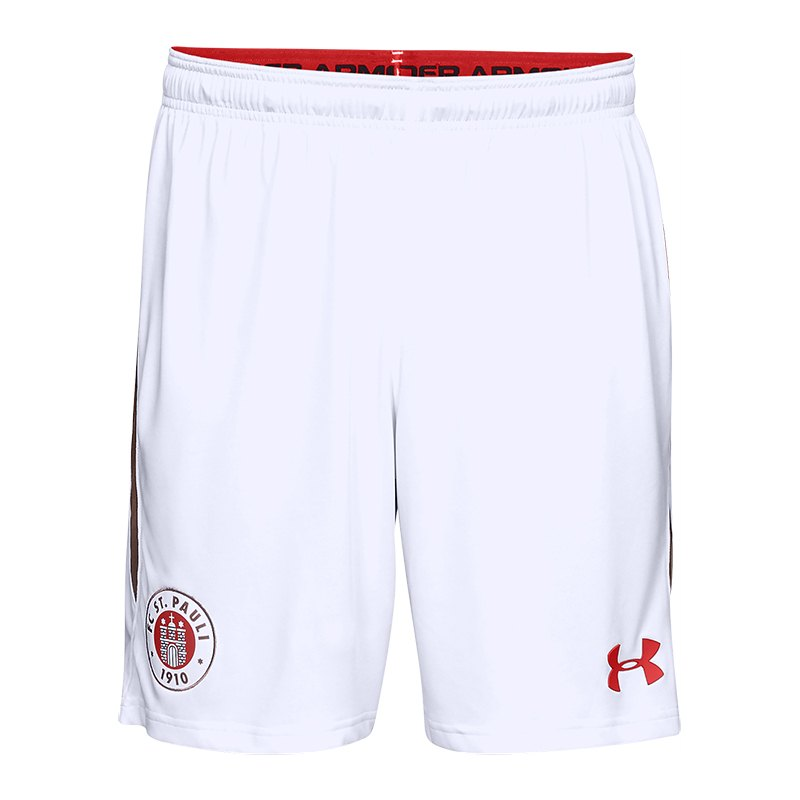 Under Armour St. Pauli Short Away 2018/2019 F101 - weiss