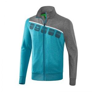 erima-5-c-polyesterjacke-kids-blau-grau-fussball-teamsport-textil-jacken-1021905.jpg