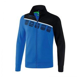 erima-5-c-polyesterjacke-kids-blau-schwarz-fussball-teamsport-textil-jacken-1021901.jpg