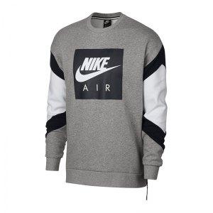 nike-air-fleece-crew-sweater-grau-f063-fussball- e8df92acdb