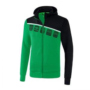 erima-5-c-trainingsjacke-mit-kapuze-gruen-schwarz-fussball-teamsport-textil-jacken-1031905.jpg