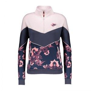 nike-1-2-zip-sweatshirt-damen-rosa-blau- 79b184e7fe