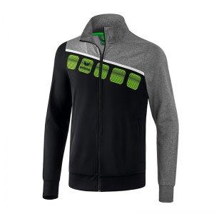 erima-5-c-polyesterjacke-kids-schwarz-grau-fussball-teamsport-textil-jacken-1021903.jpg