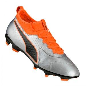 puma-one-3-leder-fg-silber-orange-f01-fussball-schuhe-nocken-104743.jpg