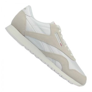 reebok-classic-nylon-cl-sneaker-freizeitschuh-lifestyle-damenschuh-. Reebok  Reebok Classic Nylon Sneaker Damen Weiss Grau e041908e14