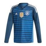 adidas Deutschland Torwarttrikot Kids WM18 Blau - blau