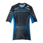 adidas Tech Fit Chill Tee T-Shirt Blau - blau