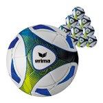 Erima Hybrid 10xTrainingsball Blau Gelb - blau