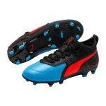 PUMA ONE 19.3 Leder FG/AG Kids Blau Rot F01 - blau