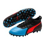 PUMA ONE 19.3 Leder MG Kids Blau Rot F01 - blau