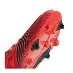 adidas Predator 19.1 FG J Kids Rot Schwarz - rot