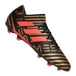 adidas NEMEZIZ Messi 17.3 FG Schwarz Rot - schwarz
