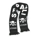 FC St. Pauli Schal Totenkopf Schwarz Weiss - schwarz