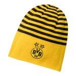 PUMA BVB Dortmund Beanie Mütze Schwarz Gelb F02 - Schwarz