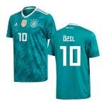 adidas Deutschland Trikot Away Kids WM 2018 Türkis inkl. Özil 10 - tuerkis
