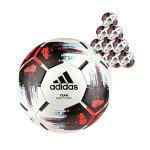 adidas Team 10xSpielball Weiss Schwarz Rot - weiss