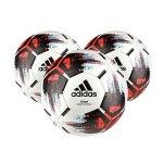 adidas Team 3xSpielball Weiss Schwarz Rot - weiss