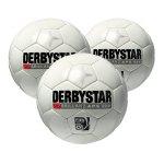 Derbystar Brillant APS 3xSpielball Weiss - weiss