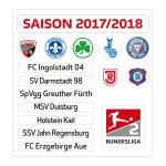 Magnettabelle 2. Bundesliga Update-Set 2017/18 - weiss