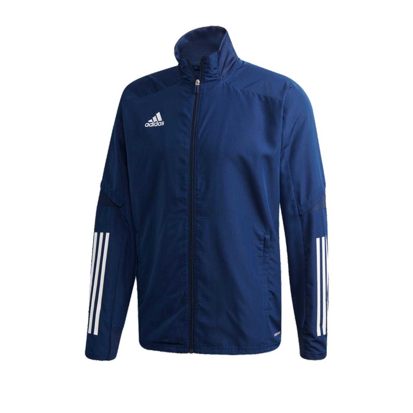 adidas Condivo 20 Präsentationsjacke Blau Weiss - blau