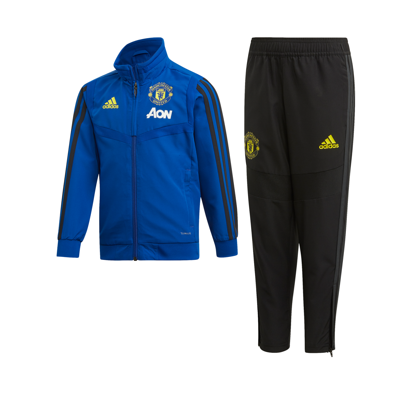 adidas Manchester United Trainingsanzug Kids Blau ...