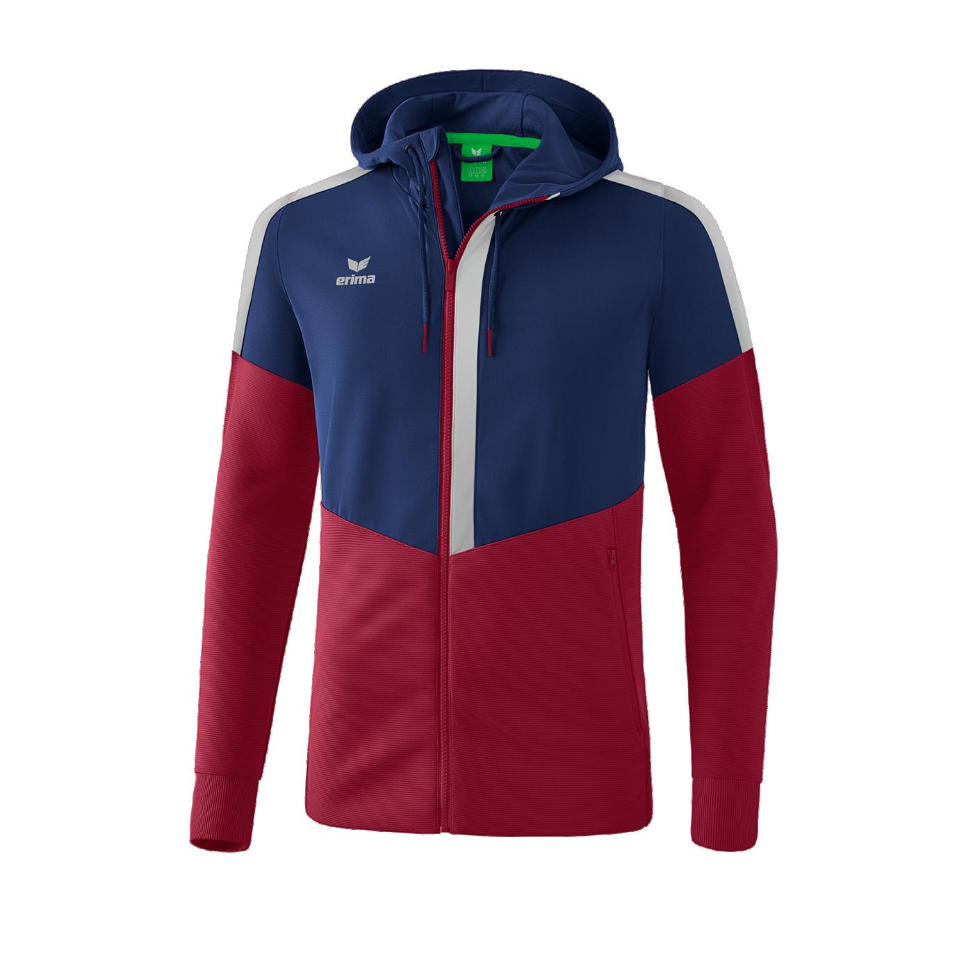 Erima Scquad Jacke Kapuze Trainingsjacke Sportjacke Trainingsanzug Freizeitjacke