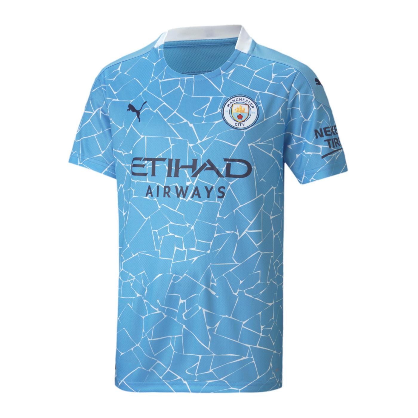 Manchester City Trikot Home 2020/2021 Kids Blau F01   Jersey   Replica
