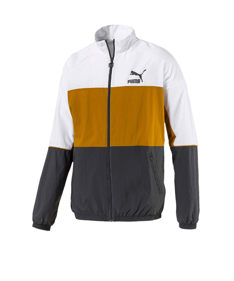 PUMA Retro Woven Track Jacket Jacke Grau F14