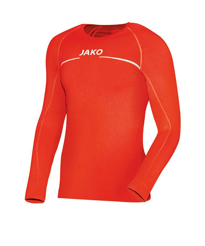 Jako Longsleeve Comfort Shirt Orange F18 - orange