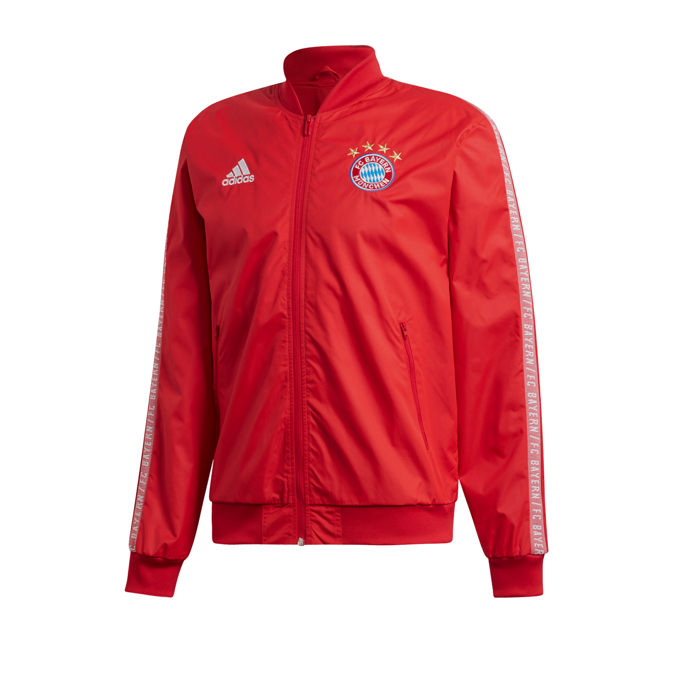 adidas FC Bayern München Anthem Jacket Jacke Rot