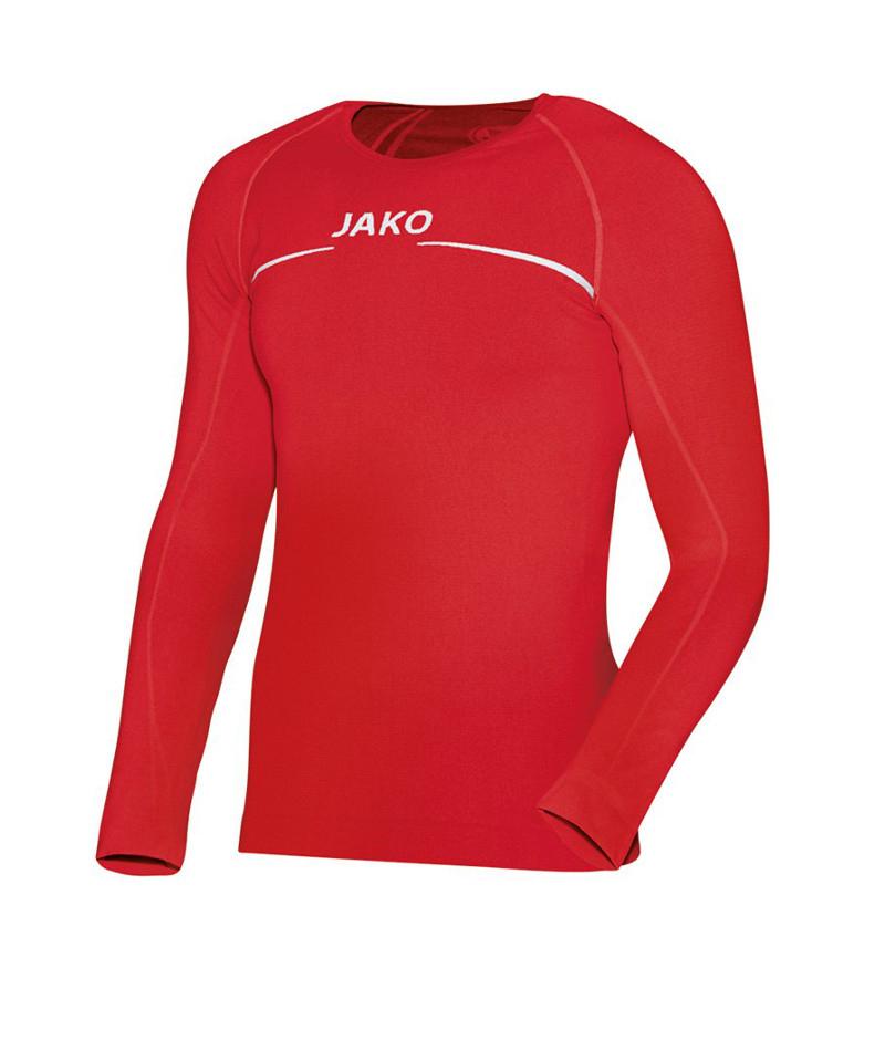 Jako Longsleeve Comfort Shirt Rot F01 - rot