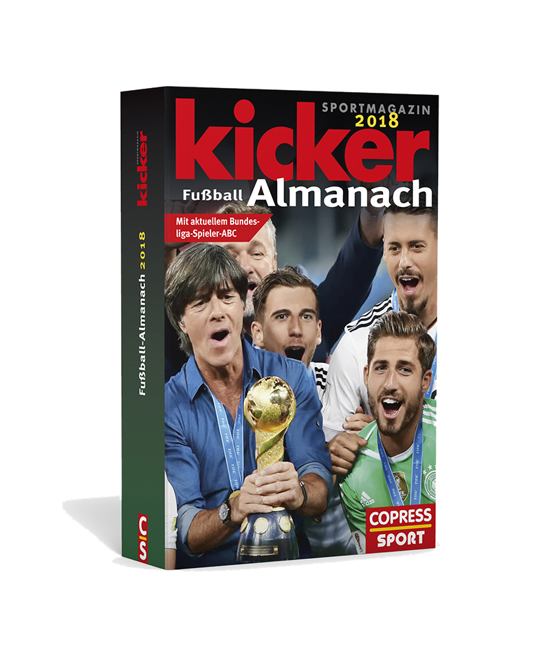 kicker Almanach 2018 - rot