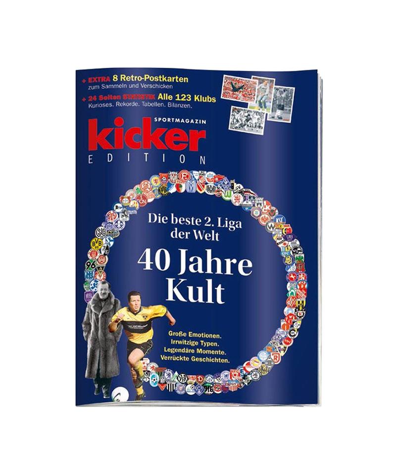 kicker Edition 40 Jahre Kult - Die beste 2. Liga - rot