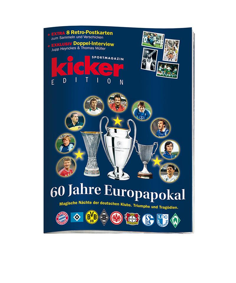 kicker Edition 60 Jahre Europapokal - rot