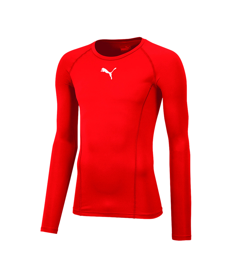 PUMA LIGA Baselayer Warm Longsleeve Kids F01 - rot
