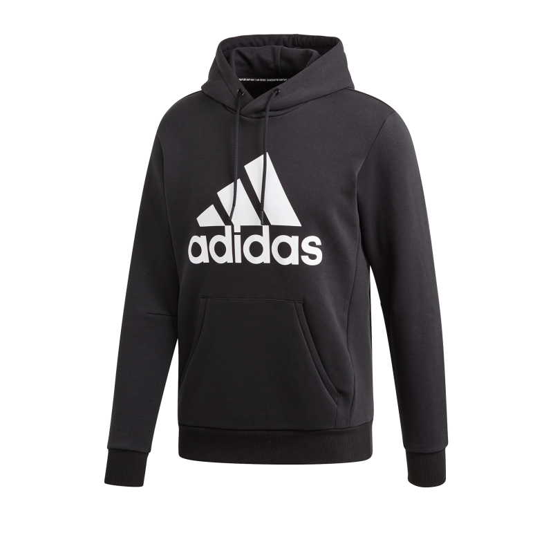 adidas Badge of Sports Fleece Hoody Schwarz - schwarz