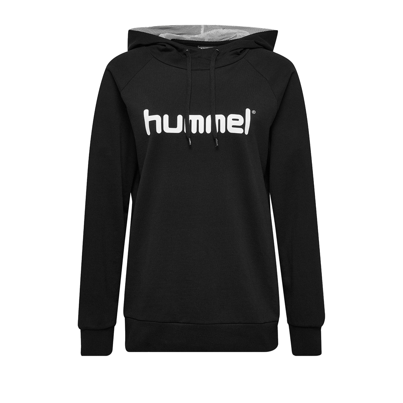 Hummel Cotton Logo Hoody Damen Schwarz F2001 - Schwarz