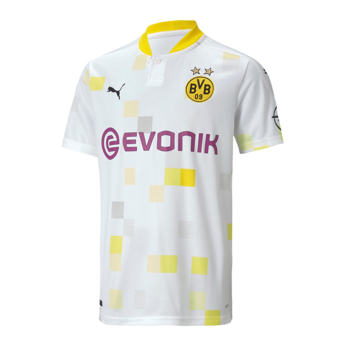 Bvb Dortmund Trikot 3rd 2020 2021 Kids Weiss F03 Replicas Fanshop Jersey