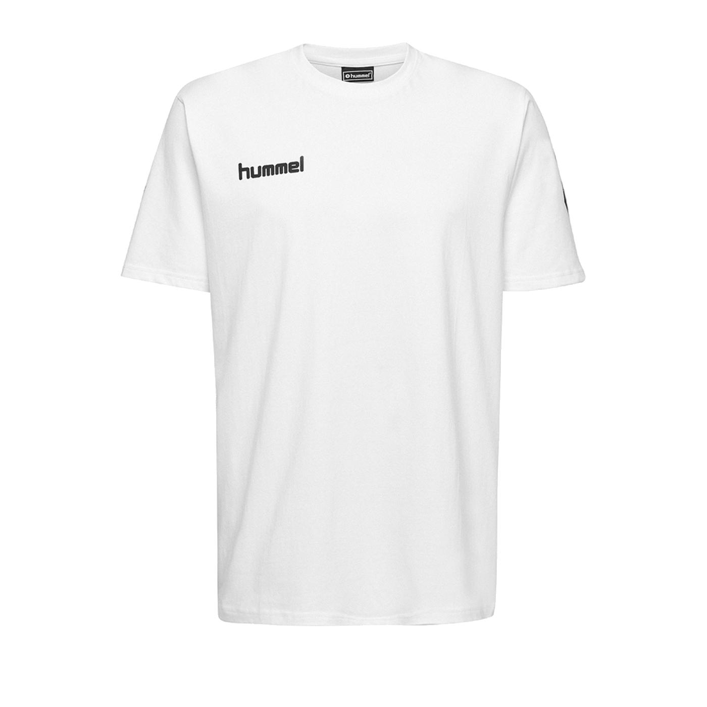 Hummel Cotton T-Shirt Weiss F9001 - Weiss