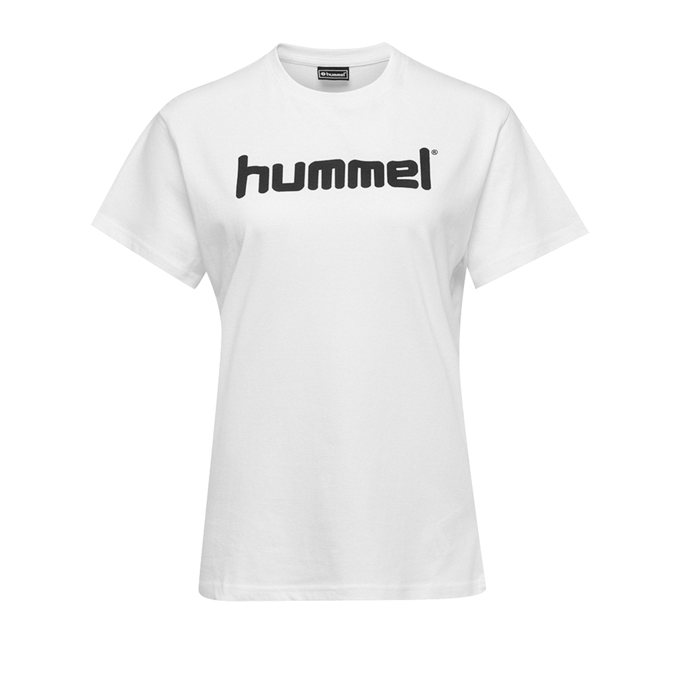Hummel Cotton T-Shirt Logo Damen Weiss F9001 - Weiss
