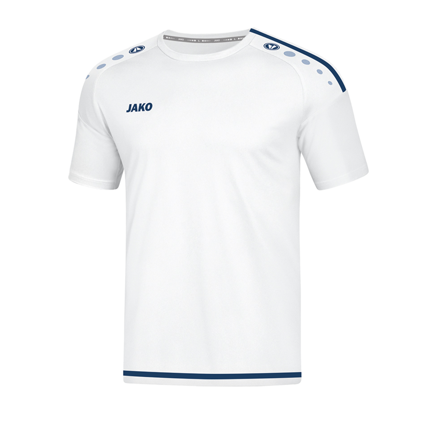 Jako Striker 2.0 Trikot kurzarm Weiss Blau F90 - Weiss